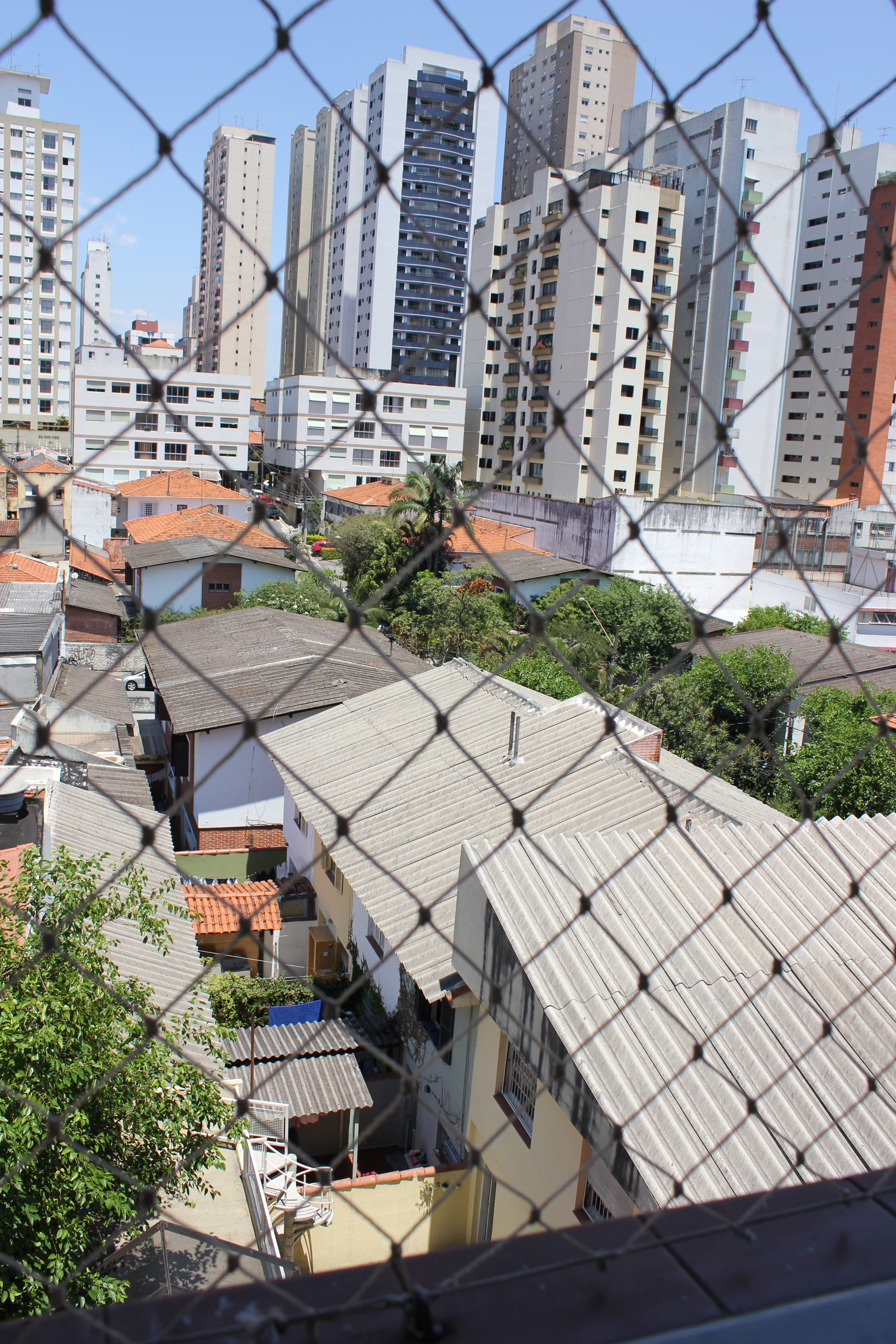 View of Sao Paulo neighborhoods and high rise apartments from APAE